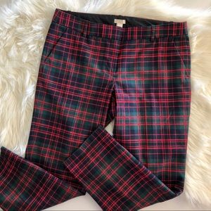 JCREW plaid red/green/blue wool pants